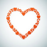 Happy Valentine's Day Vector Background with Heart Stock Photos
