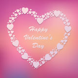 Happy Valentine's Day Vector Background with Heart Royalty Free Stock Image