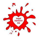 Happy Valentine's Day Vector Blood Splash Heart Royalty Free Stock Photos