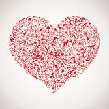 Happy Valentine's Day vector card. With elements Royalty Free Stock Image