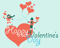 Happy Valentine's Day Vector Card Stock Photography