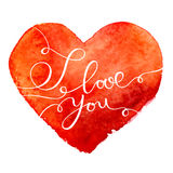 Happy Valentine's Day vector card. With lettering Royalty Free Stock Photo