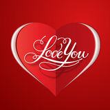 Happy Valentine's Day vector card. With lettering Royalty Free Stock Images