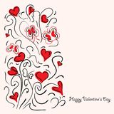 Happy Valentine`s day vector card and lettering. Stock Photos