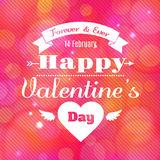 Happy Valentine's Day vector card. With lights royalty free illustration