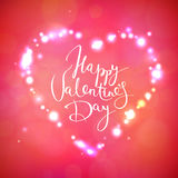 Happy Valentine's Day vector card Stock Image
