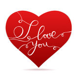 Happy Valentine's Day vector card. With texts Stock Image