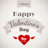 Happy Valentine's Day vector card Stock Photo