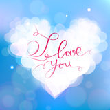 Happy Valentine's Day vector card. With texts Royalty Free Stock Photography