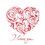 Happy Valentine's Day vector card Royalty Free Stock Photo