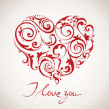 Happy Valentine's Day vector card. With texts Stock Photos