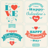 Happy Valentine's Day vector card. With texts Stock Photo