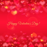 Happy Valentine's Day! Vector greeting card. Royalty Free Stock Photos