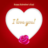 Happy Valentine's Day Vector Heart Stock Photography