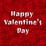 Happy Valentine's Day Vector Hearts Background Royalty Free Stock Image
