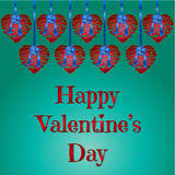 Happy Valentine's Day Vector Hearts Royalty Free Stock Photo