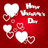 Happy Valentine's Day Vector Hearts Stock Images