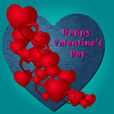 Happy Valentine's Day Vector Hearts Royalty Free Stock Images