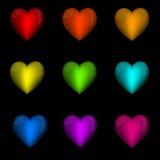 Happy Valentine's Day Vector Hearts Royalty Free Stock Photos