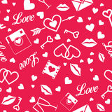 Happy Valentine's Day !  Vector seamless pattern Royalty Free Stock Photo