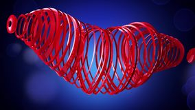 Happy Valentine`s Day. Video greetings to Valentine`s Day. In the center of a red heart. 4K. 3d rendering stock footage