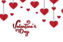 Happy Valentine's day vintage trendy clean design. Background banner template vector illustration red and white colors vector illustration