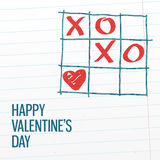 Happy Valentine's day xoxo greating card. Stock Photography