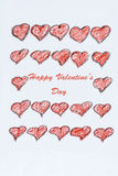 Happy Valentine's   Greeting Card with red hearts Royalty Free Stock Photos