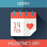 Happy Valentine's illustration in flat style Stock Images