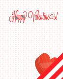 Happy Valentine's Letter with Chocolate Box Stock Images