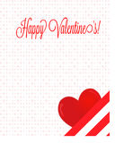 Happy Valentine's Letter with Heart Royalty Free Stock Images