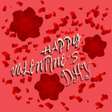 Happy Valentine´s poster Royalty Free Stock Photography
