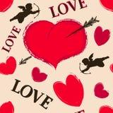Happy valentine seamless Stock Images