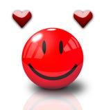 Happy Valentine Smiley. On white background vector illustration