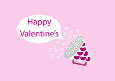Happy valentines boom Royalty Free Stock Photos