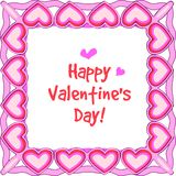 Happy valentines border. Illustration of frame  for happy valentines day Royalty Free Stock Image