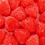 Happy Valentines candy background Stock Images