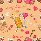 Happy valentines cat Stock Photos