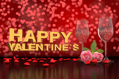Happy valentines Royalty Free Stock Images