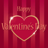 Happy valentines day. Greetings card with a heart saying happy Valentines day Stock Image