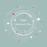 Happy Valentines Day. Greeting card Stock Image
