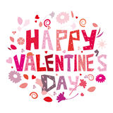 Happy Valentines Day. An abstract illustration for Valentines day Royalty Free Stock Photos