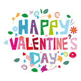 Happy Valentines Day. An abstract illustration for Valentines day Stock Photos
