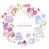 Happy Valentines Day. An abstract illustration for Valentines day Royalty Free Stock Photo