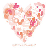 Happy Valentines Day. An abstract illustration for Valentines day Royalty Free Stock Image