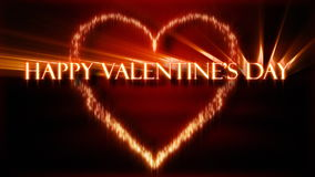 Happy Valentines Day. Animation with words spelling Happy Valentines Day in black and orange stock video footage