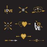 Happy valentines day  arrow. Royalty Free Stock Photo