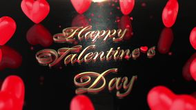 Happy valentines day background animation stock video footage