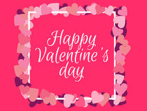 Happy Valentines Day. Background for a card of congratulations. Vector. Illustration Stock Photography