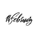 Happy Valentines Day background. 14 February lettering. Vector illustration. Happy Valentines Day background. 14 February lettering. Vector illustration stock illustration